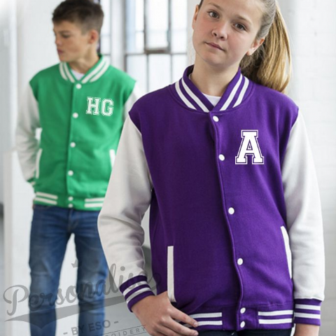Personalised Kids INITIALS VARSITY Jacket